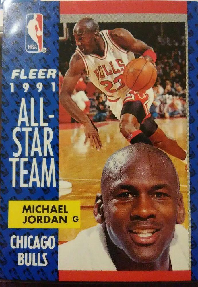 046c09abe 1991-92 FLEER ALL-STAR TEAM MICHAEL JORDAN CHICAGO BULLS  211 (EX-NRMT)   ChicagoBulls
