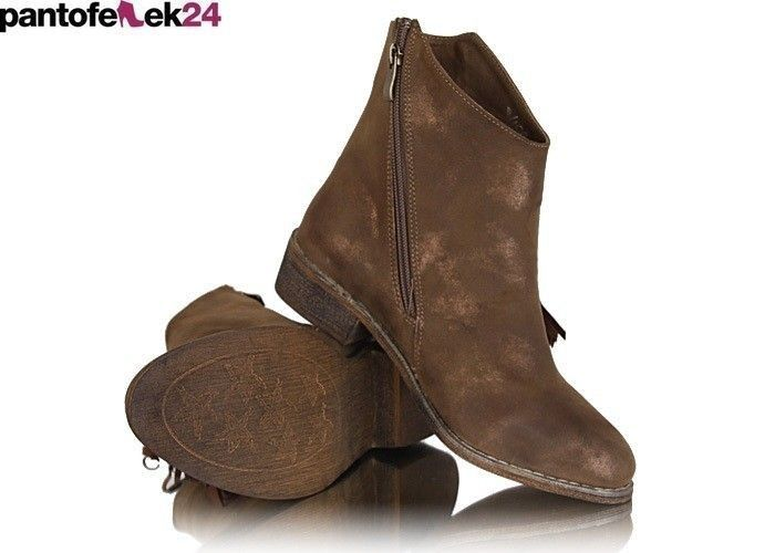 Botki w kolorze camel / Camel boots / 49,90 PLN #brown #boots #botki #shoes #obuwie #camel #sneakers
