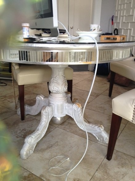 Silver Leafd Shabby Chic Mirror Round Dining Table My Love Of Furniture