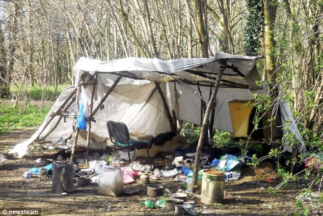 The shanty of a homeless migrant.