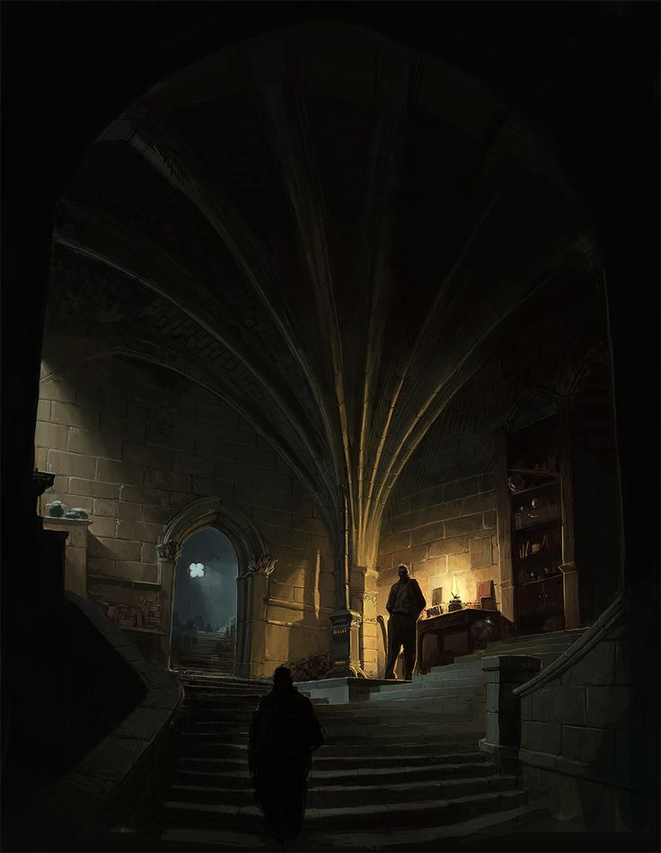early gothic sketch - mood and color