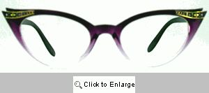 Fete Jeweled Cat Eye Glasses - 539G Violet