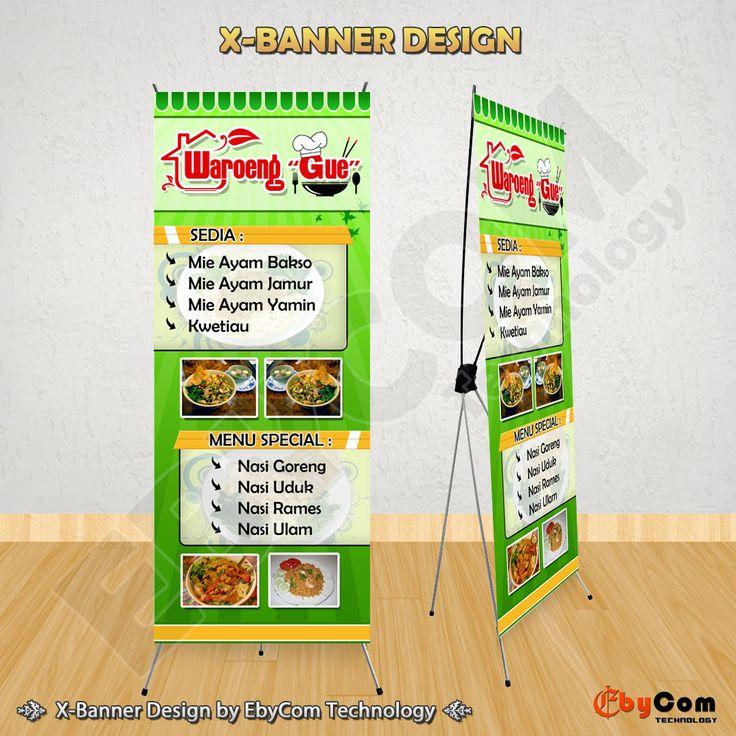 """Desain X-Banner """"Waroeng Gue"""" by EbyCom Technology"""