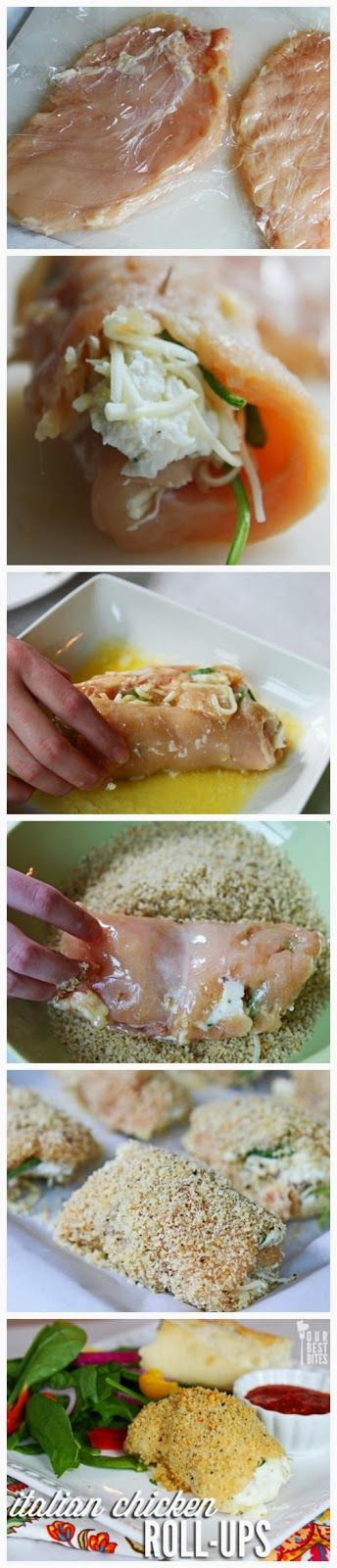 Italian Chicken Roll-Ups. These chicken roll-ups are quite simple to make, but give the appearance of something fancy.