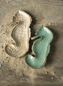 Seahorse Decorative Plate Set of 2