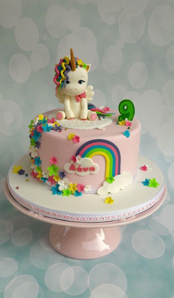 Baby Unicorn Cake My Cakes Cookies In 2019 Fiestas De