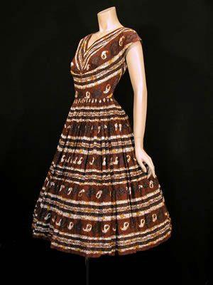 1950s batik dress