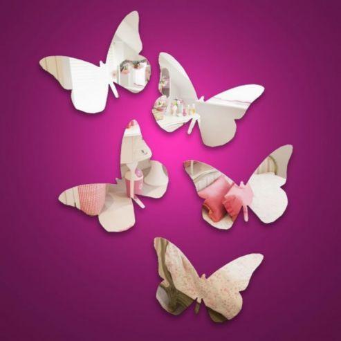 Mini Butterflies, 5 Safety Mirrors