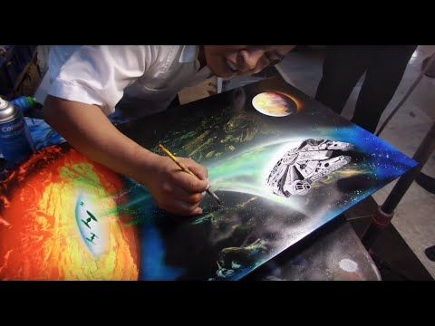 Star wars falcon super amazing spray paint