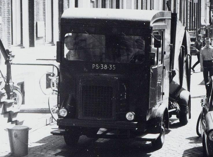 1960's. Faun Vuilniswagen SR136 garbage truck (PS-38-35) of the Stads Reiniging (municipal sanitation service) of Amsterdam. #amsterdam #1960 #StadsReiniging