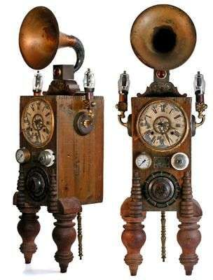 14 best images about steampunk clock on pinterest grandfather clocks cathedrals and clock - Funky cuckoo clock ...