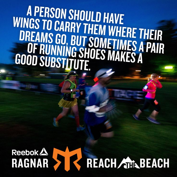 A person should have wings to carry them where their dreams go, but sometimes a pair of running shoes makes a good substitute.