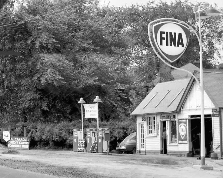 Toronto Ontario Fina Service Station 1955 Vintage 8x10 Reprint Of Old Photo