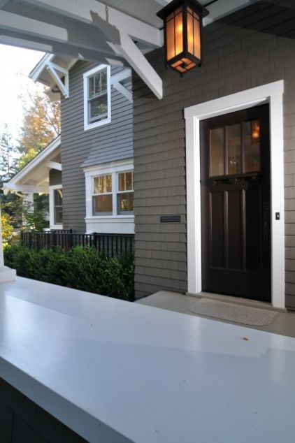 This is the exact exterior paint color I want for my new house. Love the white trim and black door