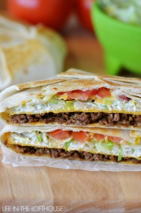 Taco Bell Crunchwrap Supremes! In under 30 minutes (optional: sub beef for ground turkey or chicken, or even rice!)
