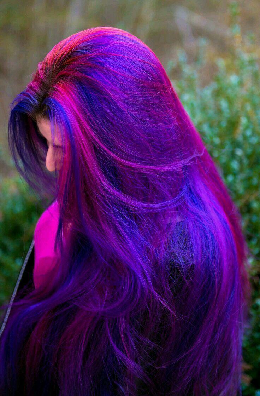 cabelo roxo azul rosa maravilhoso