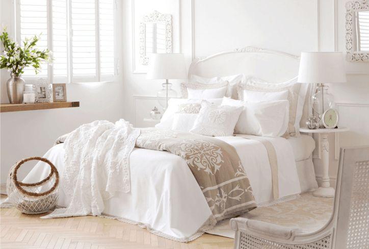 cama zara home blanca