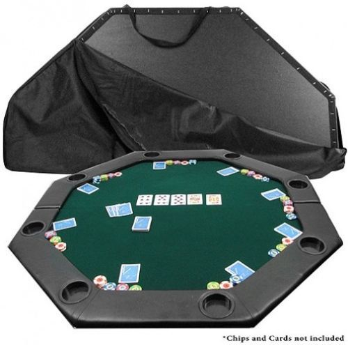 Trademark Poker 51 Inch X 51 Inch Octagon Padded Poker Tabletop, Green,  Multicolor