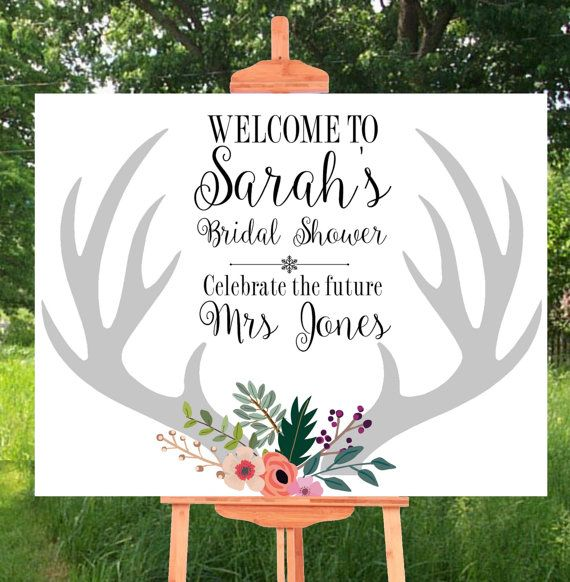 Printable Bridal Shower Sign  This is a custom made sign with your bridal shower details, which will be made to order, ready for you to