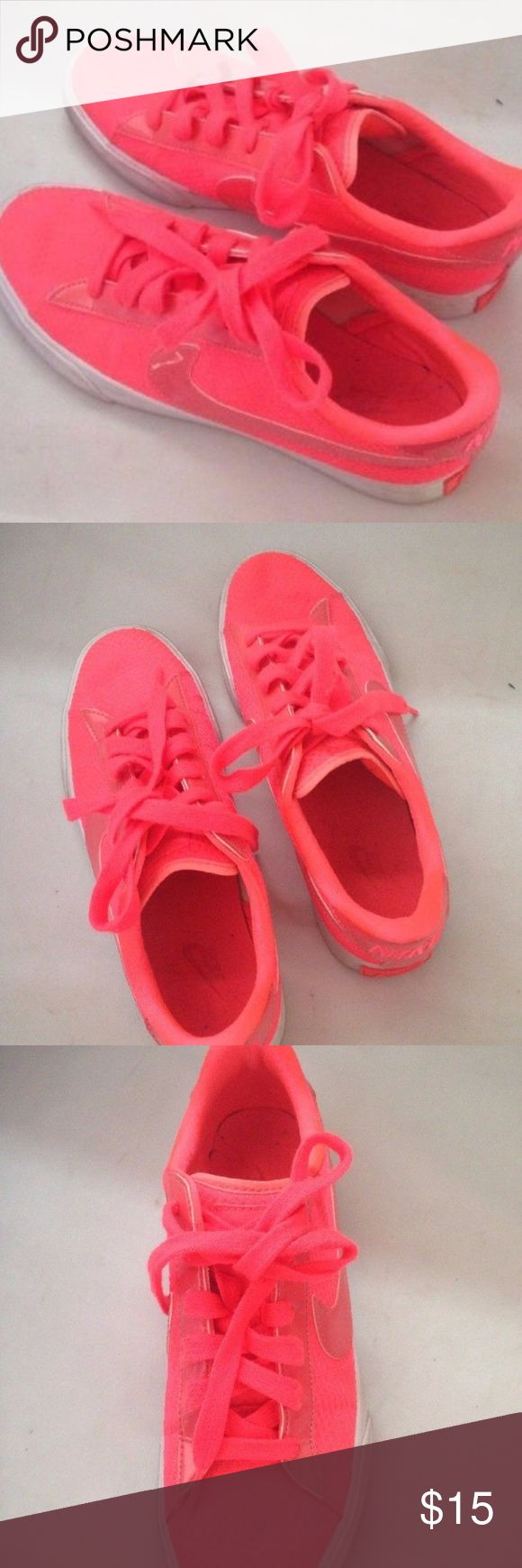 Nike Primo Court Sneakers Tennis Shoes  Hot Pink Nike Primo Court Sneakers Tennis Shoes Canvas Hot Pink Swoosh Nike Shoes Athletic Shoes