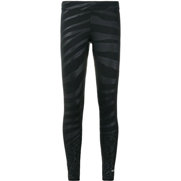 Adidas By Stella Mccartney zebra print leggings (€99) ❤ liked on Polyvore featuring pants, leggings, black, legging pants, zebra print leggings, zebra striped leggings, all over print leggings and stretch waist pants