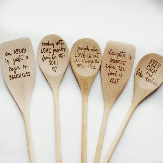 wood burned spoons, Kitchen spoons, custom wooden spoon, gifts for her, spoons with sayings, kitchen gift, christmas gift, holiday gift