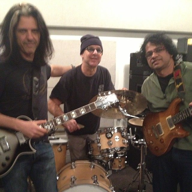 Rehearsed with a unique new improv trio: Indian guitarist Prasanna, myself & Anton Fig (THE Anton Fig). Details soon