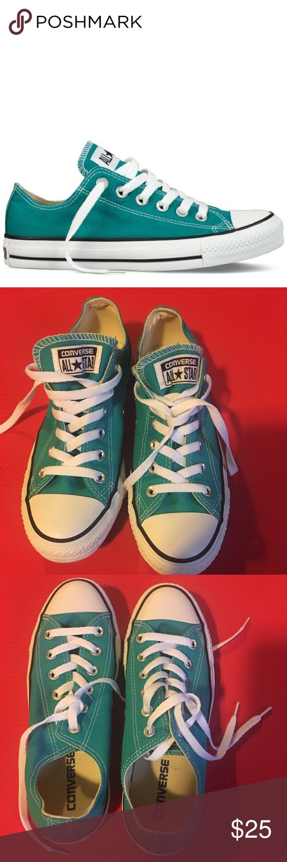 Converse Chuck Taylors Low Tops Turquoise Converse Chuck Taylors Low Tops. Size 8 Converse Shoes Sneakers