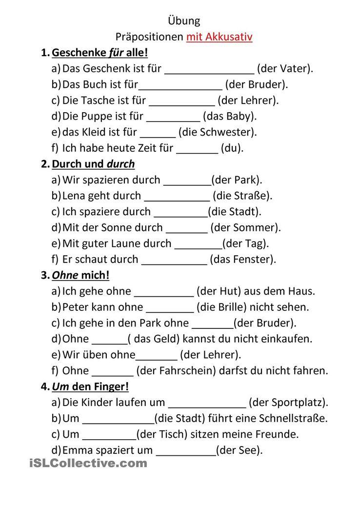 Die besten 25 akkusativ deutsch ideen auf pinterest for Prapositionen mit akkusativ