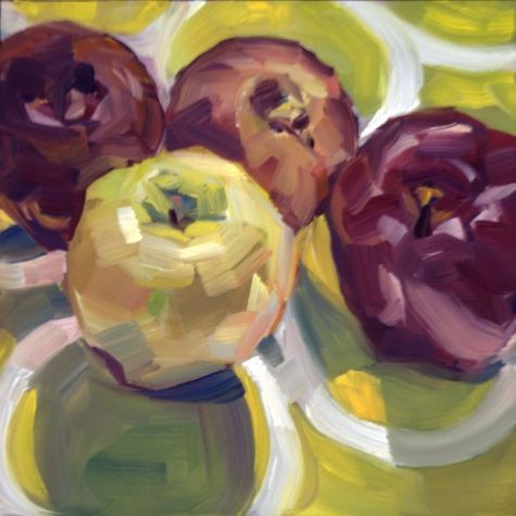 L'shana Tova, Apple Still Life!, painting by artist Nancy Spielman