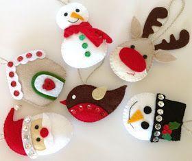80 Ideas for Christmas ornaments with felt