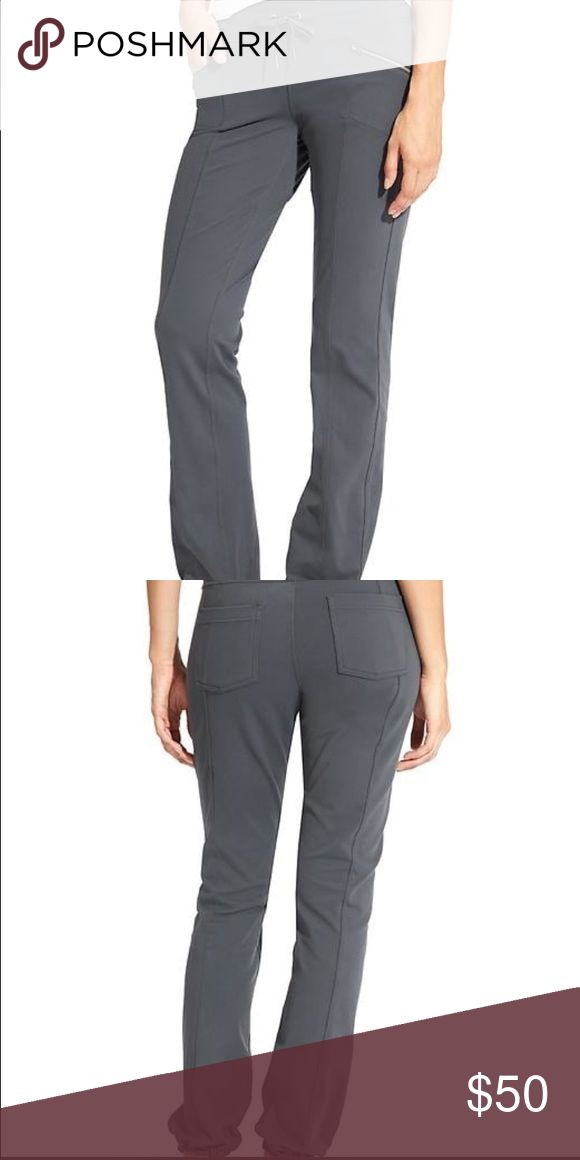 Athleta metro slouch small color is Flint The yoga pant metro style.  Designed to give your jeans a day off with handy pockets, sweet seam lines and super stretchy fabric that supports your love of adventure.  EUC.  Super comfy.  Adjustable drawstring for custom fit.  In flint gray and navy Athleta Pants Track Pants & Joggers