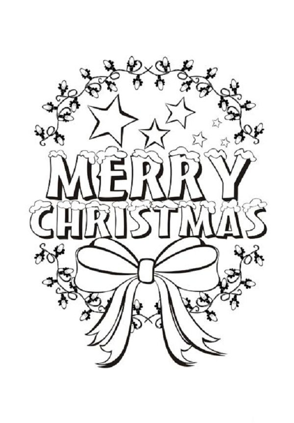 Alphabet Coloring Page Merry ChristmasColoringPrintable Coloring