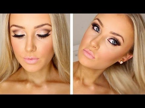 Prom Makeup Tutorial. I like how she does her crease shadow. Could probably tone it down for an everyday look.