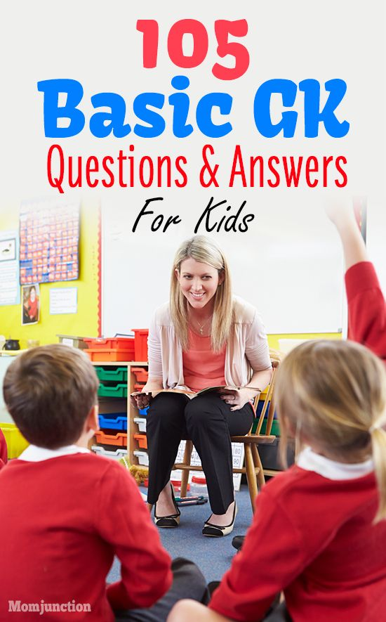 105 General Knowledge (GK) Questions & Answers For Kids - Class 1 To