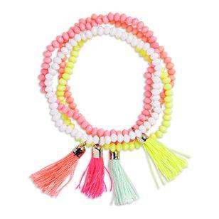 4-pack Bracelets Pink