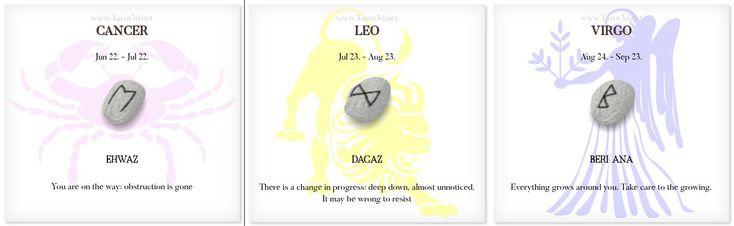Daily Runescope 1/5/2018 https://www.tarot3d.net/tagesrune/en/horoscope  #Horoscope #Zodiac #cancer #leo #virgo