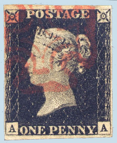world postage stamps | The World's First Postage Stamp
