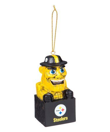 Love this Pittsburgh Steelers Mascot Ornament on #zulily! #zulilyfinds