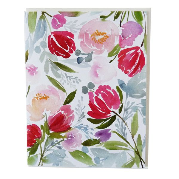 Watercolor Floral Greeting Card