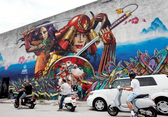 2010 Miami Art Basel, Primary Flight. MTN wall. Painted by: Bam, Estria, Neon, Chor Boogie, Apex, Jase, Rime and myself.
