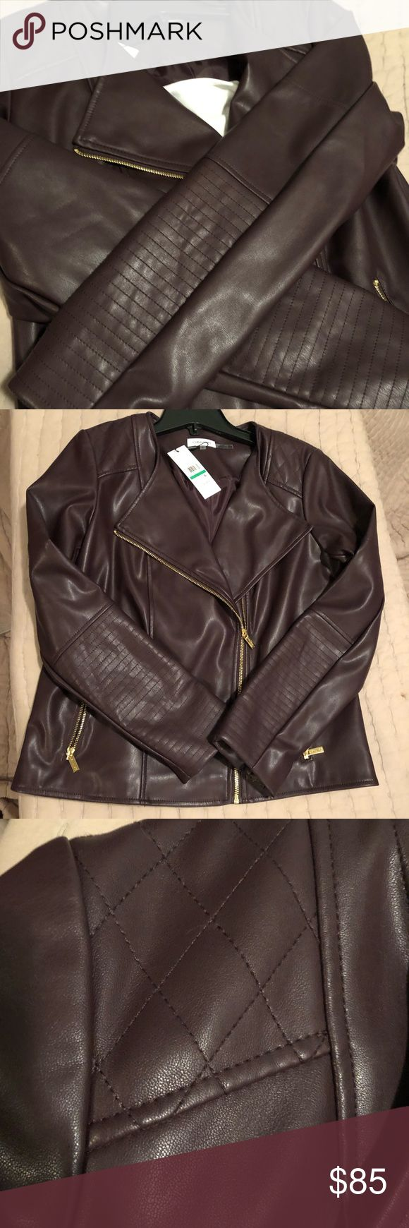 New Year Sale Calvin Klein Faux Leather Jacket ????New
