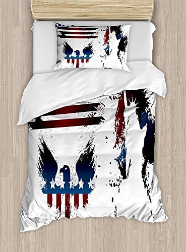 Queen Size Bed Sheet Sets American Flag Duvet Cover Set Set With