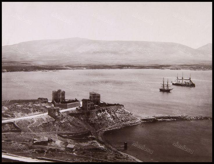 Θέα από την Καστέλλα, 1885. Φωτογραφία: Αφοί Ρωμαΐδη.