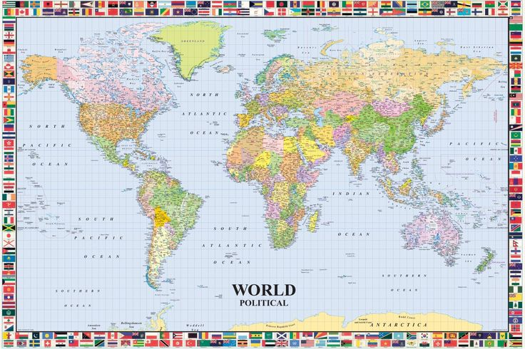 7 best world maps images on pinterest world maps play rooms and map of the world lp 200 with flags huge laminated encapsulated poster measures 36 x gumiabroncs Choice Image