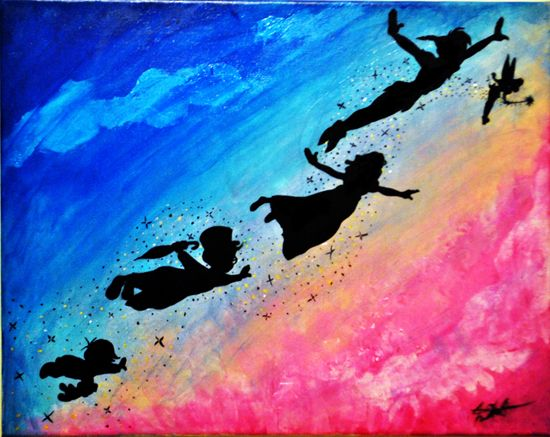 We can fly... #PeterPan #Wendy #John #Michael #Darling # ...