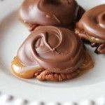 I can make this, substituting VEGAN ingredients. Thank goodness for coconut milk & oil! Chocolate Caramel and Pecan Turtle Clusters