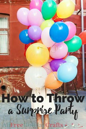How to Throw a Surprise Party | AllFreeHolidayCrafts.com