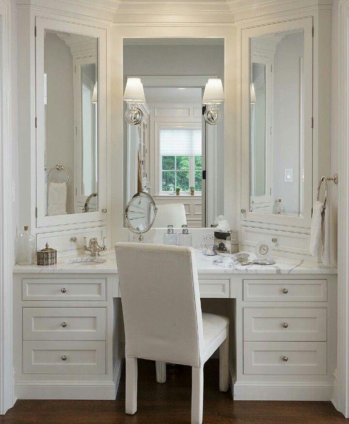 Bathroom makeup vanities