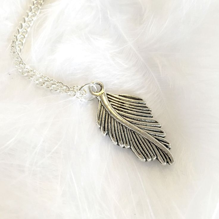 Feather - Charm Necklace – Druzy Dreams